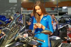 hostessa yamaha wroclaw motorcycle show 2017