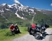 Postoj Alpy na motocyklu z