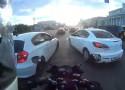 Motocyklem w korku w Rosji - tego si� nie spodziewali�cie