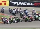Motorland Aragon go�ci klas� Supersport - zdj�cia z wy�cigu