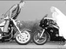 Wesele motocyklowe - �aneta i Marcin na dw�ch k�kach