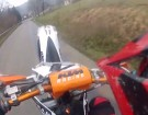 Wheelie Fail Crash 2015 Motocross KTM SX F450