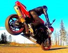 POLSKIA PASJA DO MOTOCYKLI wheelie highside burnout