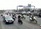 Strajk motocyklistow we Francji