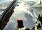 Jazda motocyklem po ośnieżonych górach