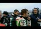 Marco Melandri zbiera gniew Maxa Biaggiego - Donington Park 2011