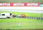 Marco Simoncelli - pierwsza pomoc po wypadku