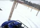Motocykle, quady i skutery śnieżne na lodzie jeziora Śniardwy