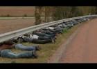 Protest przeciwko montowaniu gilotyn na drogach