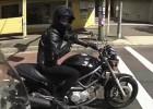 Przerwany podryw na motocyklu