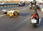 Reakcja łańcuchowa wypadku na autostradzie
