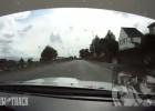 Subaru na Wyspie Man - poślizg przy 240 km/h