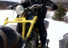 Trójkołowy motocykl na dętkach od ciągnika