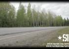 Uliczny wyścig w Szwecji - auto vs. moto