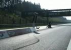 V-Rod drag bike - wypadek na starcie ćwierć mili