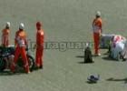 Valentino Rossi - wypadek na torze Mugello 2010