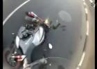 Wypadek motocyklowy w Rosji - zemsta kierowcy auta