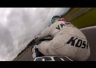 Yamaha R6 katapultuje kierowce na zakręcie