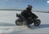 Wheelieholix on ice - jazda po lodzie