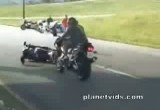 motorcycle flip handlebars accident