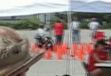 Harley w technicznym slalomie