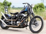 Oldschoolowy chopper od Alcatraz Customs - H-D Softail Evo Custom na zdjęciach