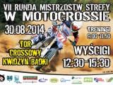 plakat Mistrzostwa Strefy Polnocnej w Motocrossie Kwidzyn 2014 z