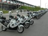 Motockle policyjne Piknik motocyklowy na bloniach Narodowego z