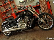 prawy bok garaz Harley Davidson V Rod Muscle