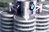 Chris Pfeiffer na BMW Tower