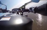 Jazda motocyklem po mokrym - testy Dunlop RoadSmart III