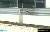 Test bezpiecznych barier energochlonnych - Basyc Motorcyclist Protection System