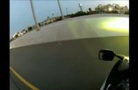 Wypadek motocyklisty na autostradzie