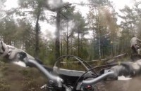 Husqvarna TE300 2014 test na lesnej trasie