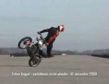 angyal zoltan switchback circles wheelie