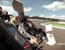 Kamera zyroskopowa - BMW S1000RR na Hockenheimring