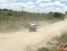 Wypadek Rafala Sonika - pierwszy etap Rajdu Dakar 2011