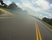 Wypadek na Kawasaki - motocyklowa katapulta
