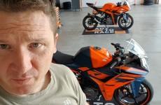 Mariusz Lowicki prosto z testow nowego KTM RC390