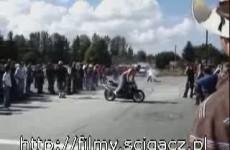 zderzenie motocykle