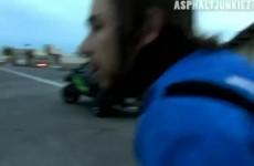Parkingowy slup kontra Nick Brocha - trening stuntu