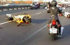 Reakcja lancuchowa wypadku na autostradzie