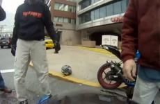 Wymuszenie pierwszenstwa i zli motocyklisci