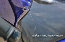 Yamaha R6 rozbija sie na skalnej scianie