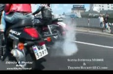 motorcycle triumph rocket vs suzuki intruder city
