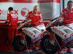World Superbike Brno Ducati Xerox Team boks