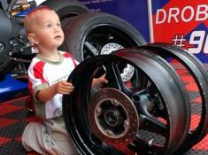 World Superbike Brno round drobny child