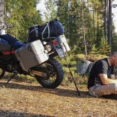 motocyklem do Finlandii z