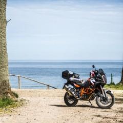 motocyklem nad morze z