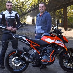 KTM Duke 125 Barry i Mateusz z